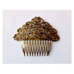 """Peigne """"Flor"""" 8,5 cm dorée"""