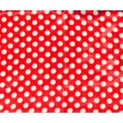 Foulard de cou 54x54 cm rouge pois blancs