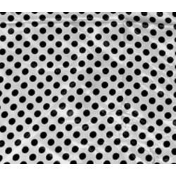 Foulard de cou 54x54 cm blanc pois noirs