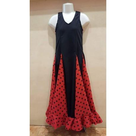 Robe Noire A Godets Rouge Pois Noirs Flamenco Mariposa
