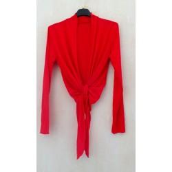 Cache-coeur long Rouge