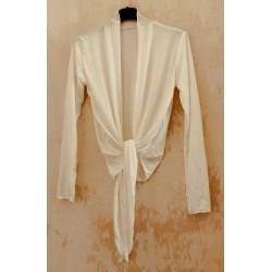 Cache-coeur long Blanc