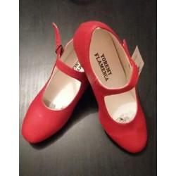 Chaussures rouge sans clous