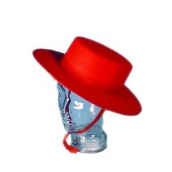 Chapeau femme ROUGE