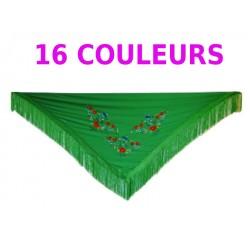 Châles 160 cm brodés multicolore DIVERSES COULEURS