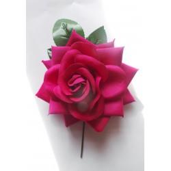 Fleur sur tige 15 cm violine