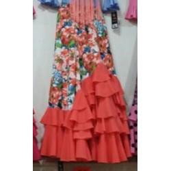 """Jupe """"Primavera"""" corail"""