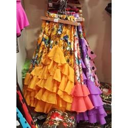 "Jupe ""Primavera"" orange"