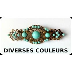 """Broches """"perlées"""" diverses couleurs 7cm"""