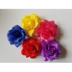 Fleur dentelle petite pince 8 cm