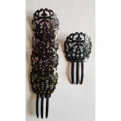 Peigne Noir à lunares 14,5 cm Diverses couleurs