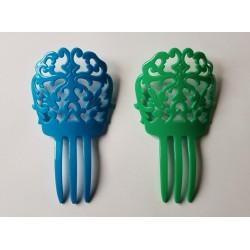 Peigne bleu ou vert