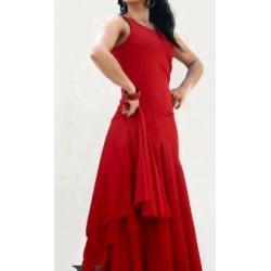 Robe rouge à godets