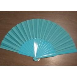 """Eventail """"Pericon"""" Bleu turquoise"""