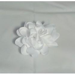 Fleur blanche pince plate et broche 11 cm