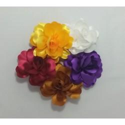 Fleur pince plate ou broche 13cm