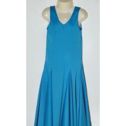 Robe bleu à godets