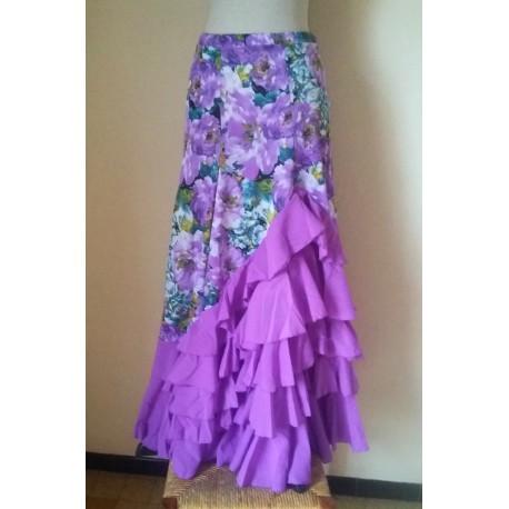 "Jupe ""Primavera"" Violet"