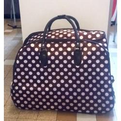 Bagage à pois- roulettes et poignée rétractable-rouge,noir ou marron
