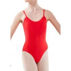 Body rouge à bretelles