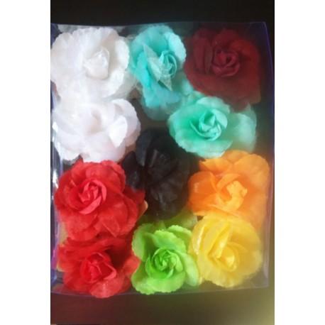 """Fleur 9 cm pince plate """"voile"""""""